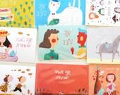 גלויות שנה טובה set 9 postcards