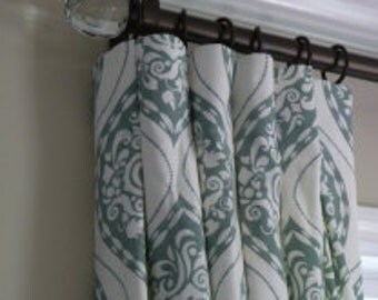Dwell Studio Ogee Drapes - Lined (Pick the fabric and size)