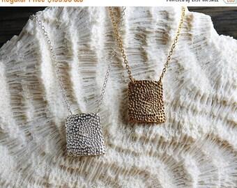 40% Off Sale Silver Square Coral Necklace