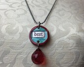 BEST Stamped Ceramic Necklace