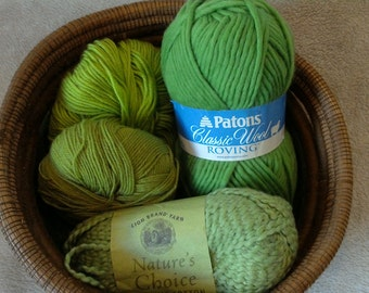 Green with envy yarn lot of 4 skeins