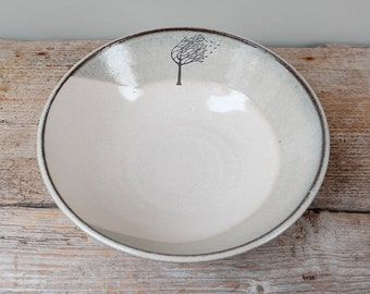 Large Windy Tree Serving Bowl