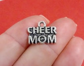 """RESERVED 30, """"CHEER MOM"""" Charms 17x14mm"""