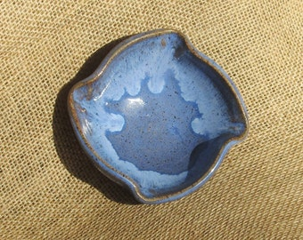 Pottery Extra Small Bowl With Altered Rim in Blue (CLEARANCE PRICED)