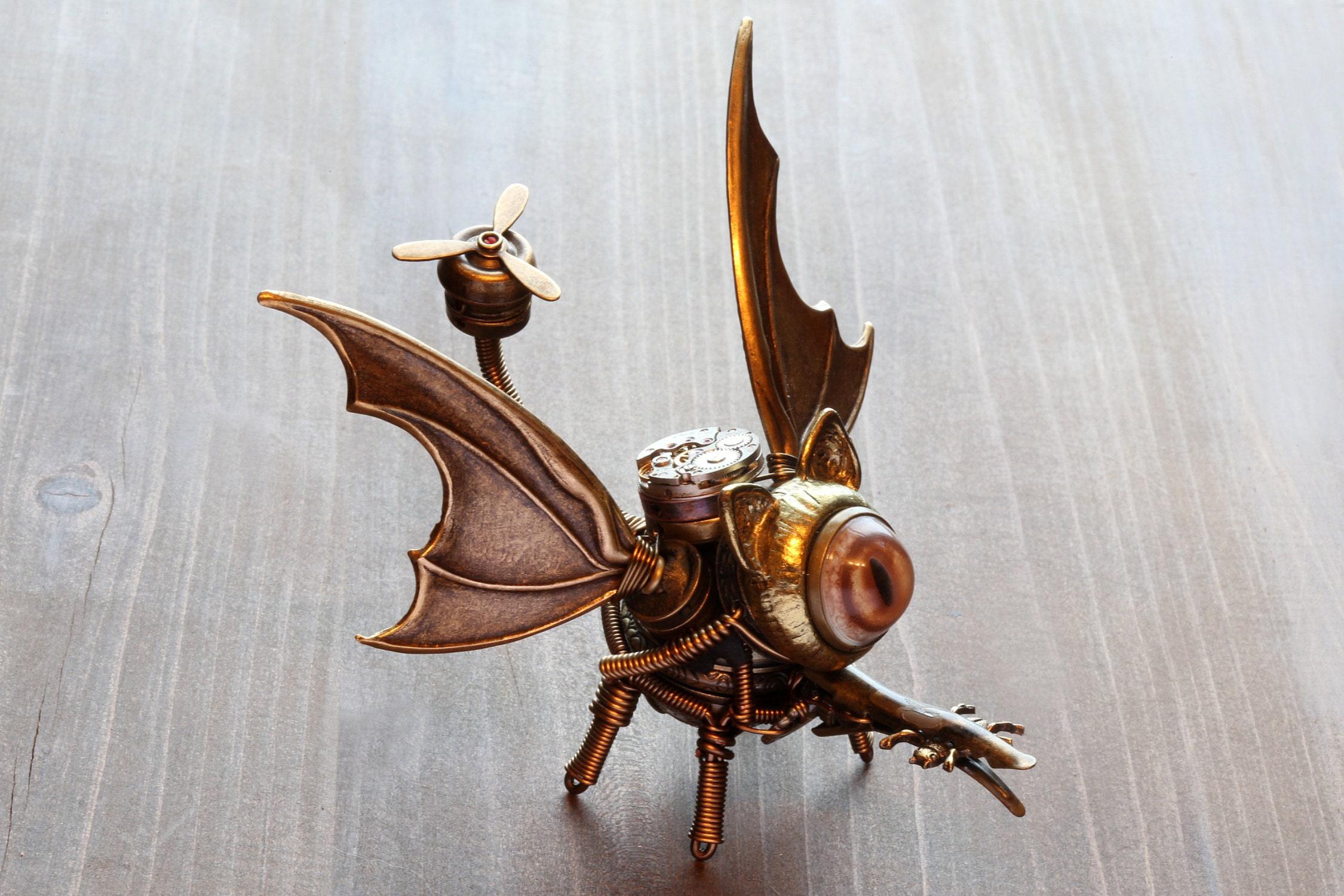 Steampunk dragon-cat robot