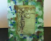 Sea Glass Mosaic 4x6 Picture Frame
