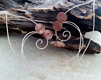 Elf Ear Cuffs Celtic Spiral - Adult Child Womens Mens - No Piercing Needed