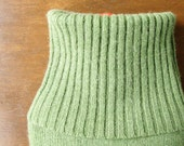 Hot Water Bottle Cover. Gifts for Sister. Green Pure Cashmere Hot Water Bag Cozy. Eco Friendly Gift. Luxe Gifts for Wife. Get Well Soon Gift