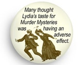 Funny Gift, Funny Fridge Magnet for Mystery Book Lovers, Funny Gag Gift for Mystery Book Lovers