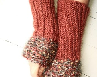 Autumn colored fingerless gloves