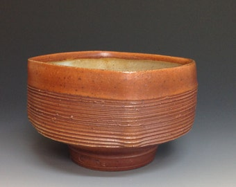 Squared Bowl. Handmade Pottery. Soda Fired Stoneware