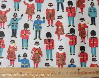 4272 - Cath Kidston Guards and Friends (Offwhite) Oilcloth Waterproof Fabric - 28 Inch (Width) x 17 Inch (Length)