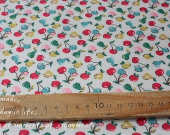 4273 - Cath Kidston Little Fruit (Offwhite) Oilcloth Waterproof Fabric - 28 Inch (Width) x 17 Inch (Length)