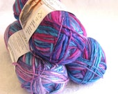 Unforgettable Waves GRAPEBERRY yarn, Red Heart Boutique, purple, mauve, pink, blue, raisin, worsted weight, variegated yarn, grape berry