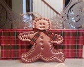 Copper Running Gingerbread Man Ornament By West Tinworks