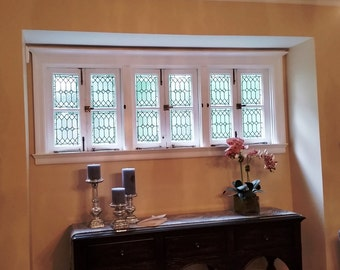 """Stained Glass Windows - """"Bevels & Diamonds II"""" (W-121)"""