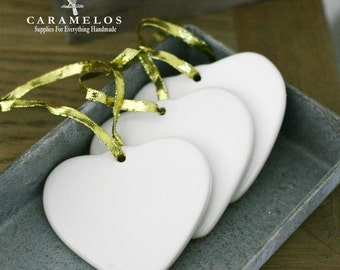 White Procelain Heart Ornament