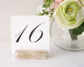 Table Number Holder + White Distressed Table Number Holders- Set of 10
