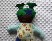Willa Medium Handmade Fabric Baby Doll