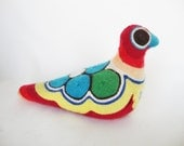 vintage huichol indian yarn bird sculpture mexican folk art