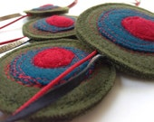 Recycled Felt Necklace Shinzo by Mainichi