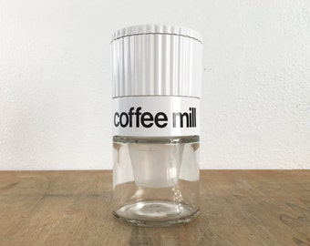 Gemco Coffee Grinder with Helvetica Font