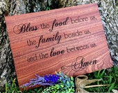CUTTING BOARD, Blessing Sign, Engraved Cutting Board, Kitchen Sign,  Cooking Sign, 15 x 11