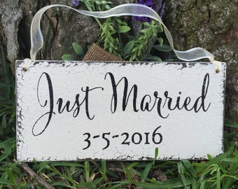 WEDDING SIGNS, Just Married, Ring Bearer Signs, Flower Girl Signs, Mr. and Mrs Signs, 5.5 x 11.5