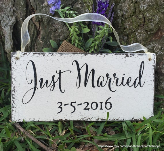items similar to wedding signs just married ring bearer signs flower girl signs mr and mrs. Black Bedroom Furniture Sets. Home Design Ideas