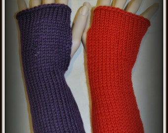 Harley Quinn Arkham Red and Purple Fingerless Gloves Armwarmers