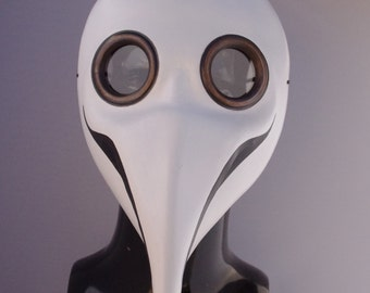White Doctor Plague Leather Mask, Party Fancy Dress, Re-enactment, Halloween etc