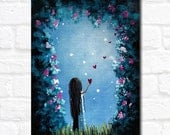 Limited Edition ACEO art print by Erback - How She Says I Love You #3/50