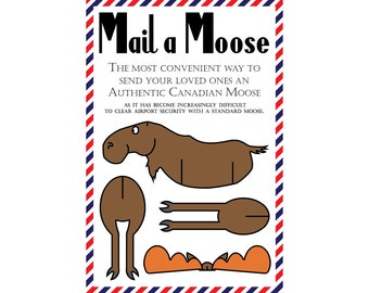 "Moose Postcards, Set of 8 ""Mail a Moose"" Postcards (Canadian Moose)"