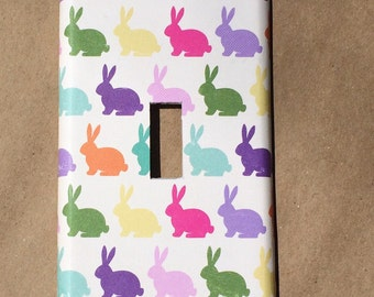 Switchplate Outlet Cover Easter Bunny Double Triple Rocker Quad Blank Cable Dimmer