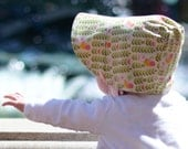 UB2  ORGANIC AVIARY a sweetly, tweetly pink & springy-summer-happy totally organic summer sun hat by The Urban Baby Bonnet