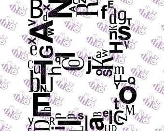 B Alphabet Initial SVG