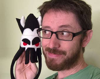 Mini Squid Plush Dracula