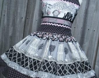 ON SALE Ready to Ship Custom Boutique RTS Halloween Ghastlie Dress Girl Ghastlies 3 4  Slim 5