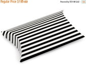 Christmas in July 12 Pack Black and White Stripe Paper Pillow Boxes 3 X 3.5 X 1 Inch Size Great Packaging for Gifts, Party Favors, and More