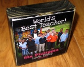 World's BEST TEACHER Gift- Larger Photo Blocks- GRADUATIoN thanks coach TEACHER GiFT friends