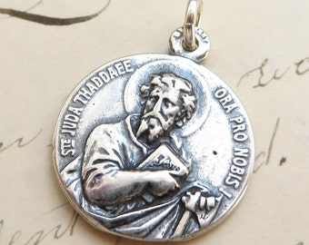 St Jude / St Joseph Medal - Patron of lost causes / Patron of fathers