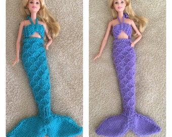 Barbie Doll Mermaid Knitting Pattern - Sure to Please the Little Girl in Your Life