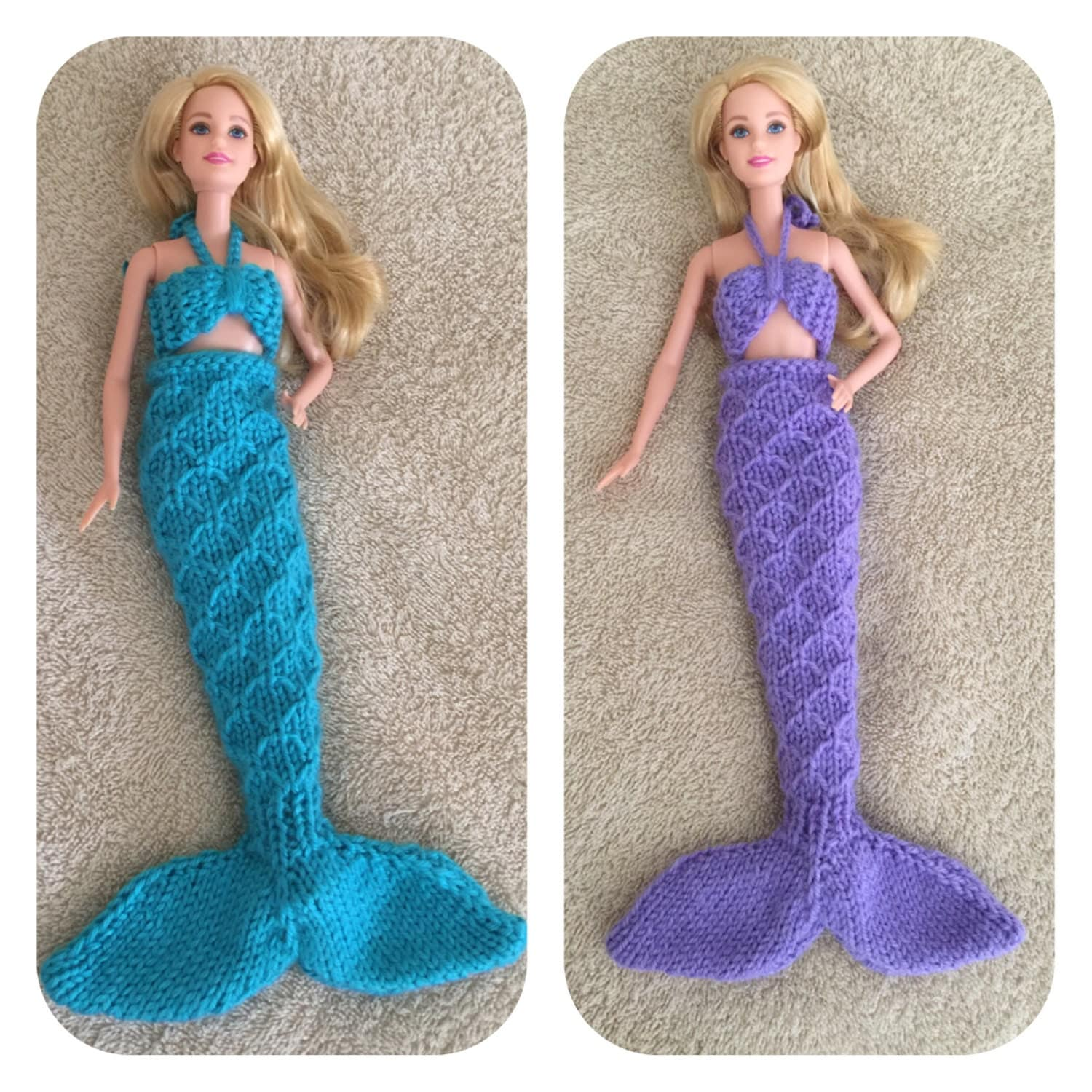 Barbie Knitting Patterns To Download : Barbie Doll Mermaid Knitting Pattern Sure to Please the