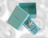 Tiffany & Co Sterling Silver Mexico  Puffy Star Pin Brooch - SALE