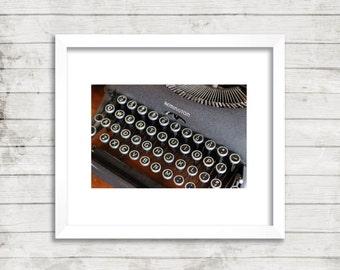 Vintage Remington Typewriter Photograph, Wall Art, Wall Decor, Digital Download
