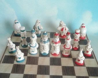Alice in Wonderland - chess set