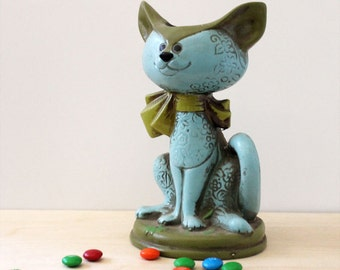 Claude the Cat. Vintage candle holder, made in Japan.