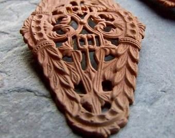 Brass Filigree-Bar Stamping-Brass Stamping-Dapped-Curved-Bracelet Finding-Brass Finding-Patina-Filigree Stamping-Brass Setting-Rhinestones-2
