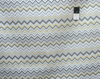Valori Wells SAVW023 Novella Zig Zag Stone Cotton Sateen HOME DECOR Fabric 1 Yard