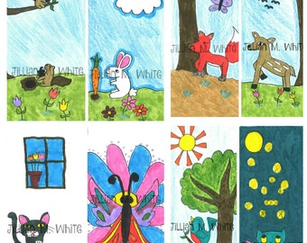 Kid-Designed & Hand-Drawn Animal Bookmarks for Charity!